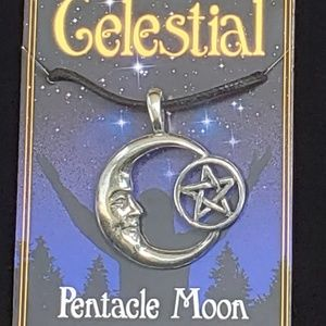 Pentacle Moon Celestial Amulet NWT